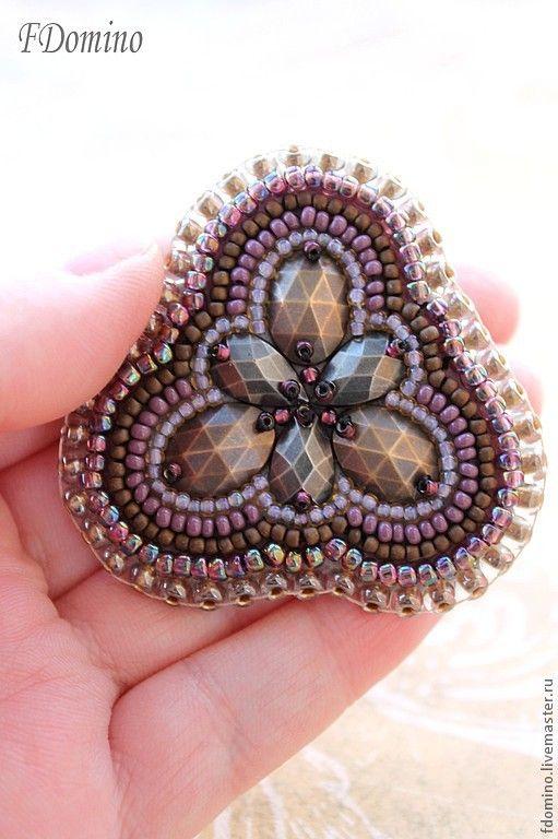 Handmade Old Tale Brooch - purple, fdomino, vintage brooch, boho style