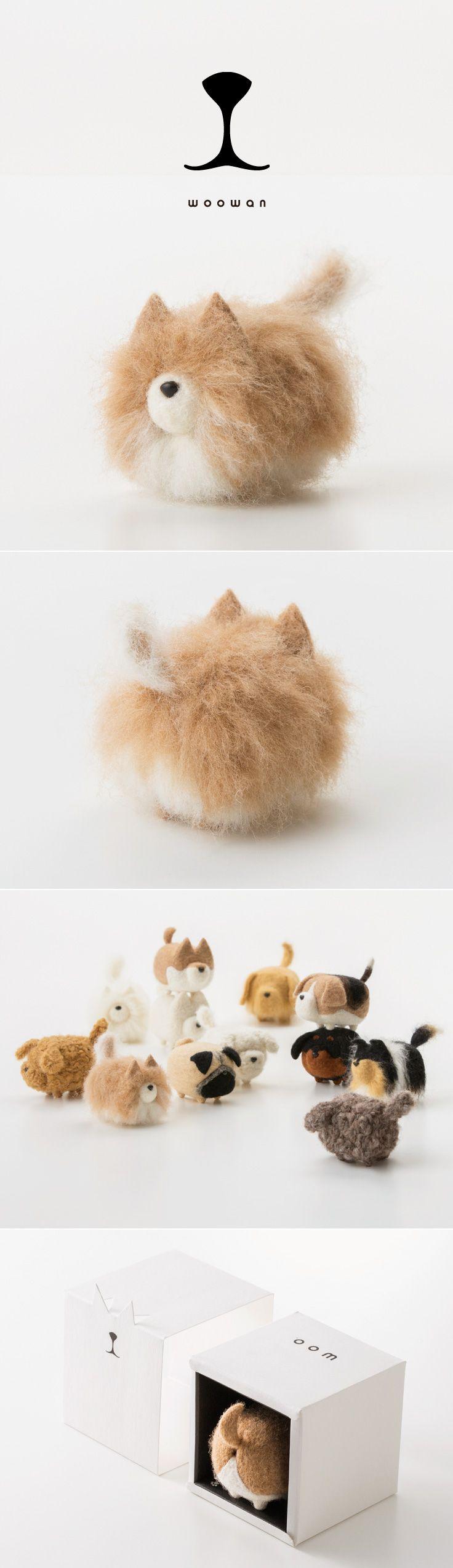 woowan/犬/dog/羊毛フェルト/Needle/Felting/mascot/doll/home/style/products/art/designs