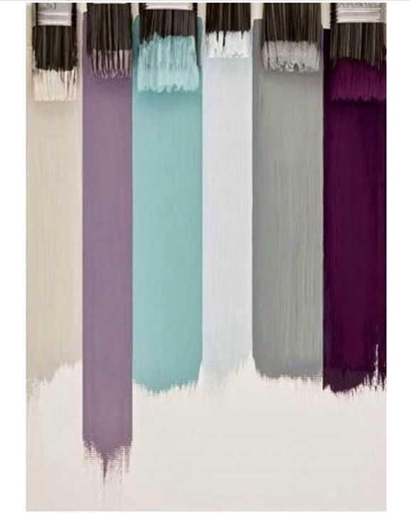 Grey, purple, and teal wedding colors - love this color pallet!