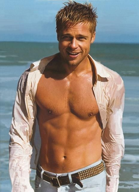 Brad Pitt, 49. He may look like a 70s porno star now but back in the day he was, well, fucking Brad Pitt.