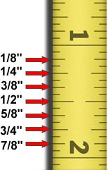 reading a ruler for dummies | Quick Guide To Measuring for Blinds or Shades.