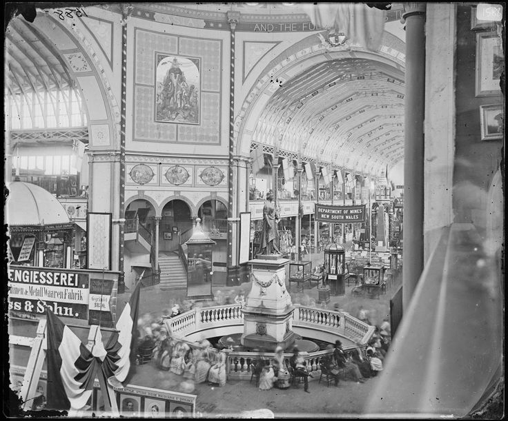 Inside the Garden Palace at the Sydney International Exhibition, 1879 [NRS 4481 SH1588]