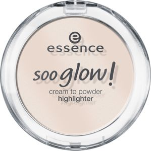 soo glow! cream to powder highlighter 10 look on the bright side - essence cosmetics