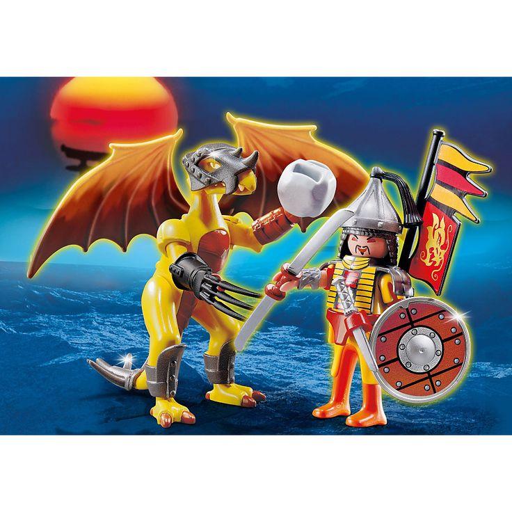 Playmobil Smoki Skalny smok z wojownikiem, 5462, klocki