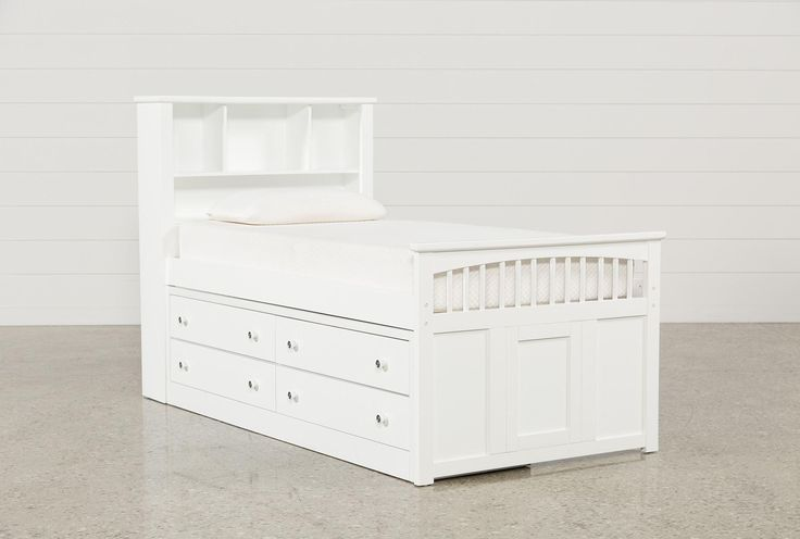 Bayfront Twin Captains Bed W/Single 4-Drawer Unit - Signature