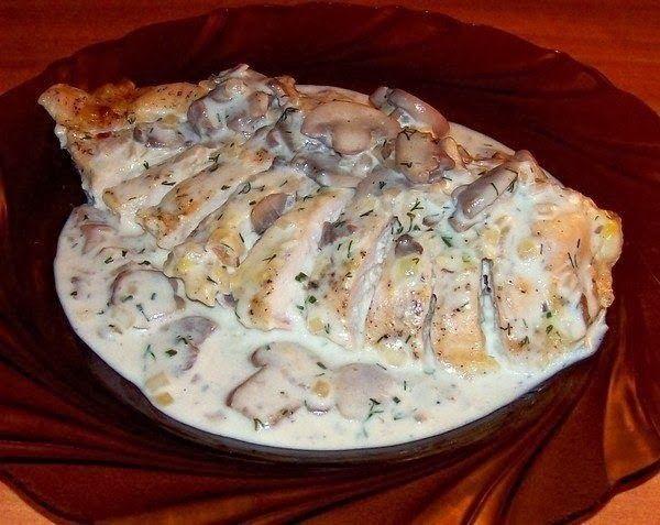 шеф-повар Одноклассники: Куриные грудки в сметане, вкуснятина :)