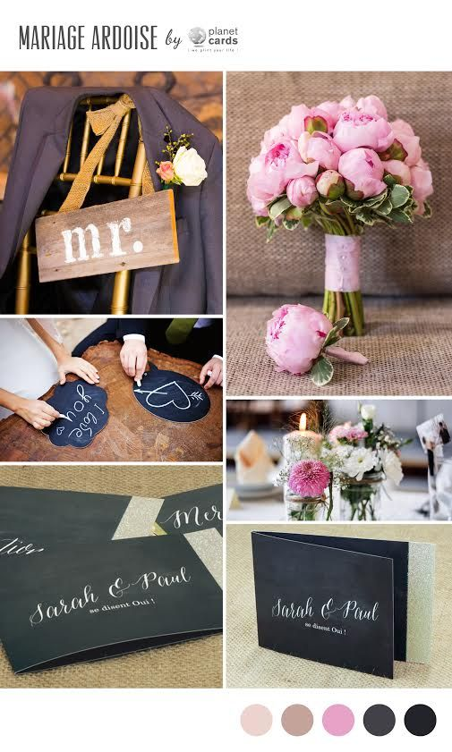 Tendance mariage Ardoise #mariage #ardoise #chalk #wedding
