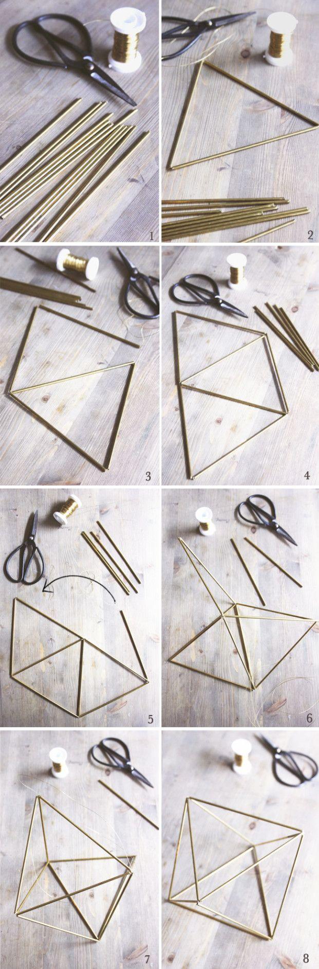 DIY geometric mobile decor