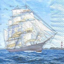 Serviett, 33x33cm - Sailing ship