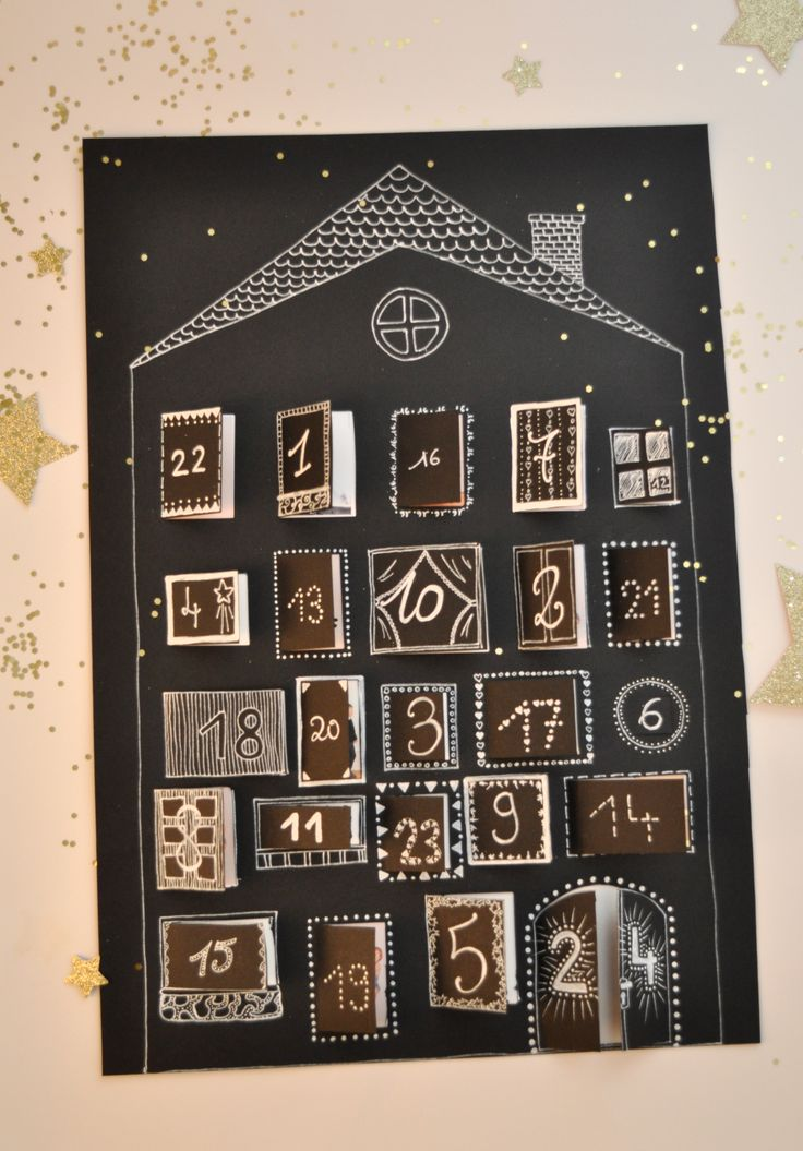 Le calendrier de l'avent pour grand-parents. #DIY
