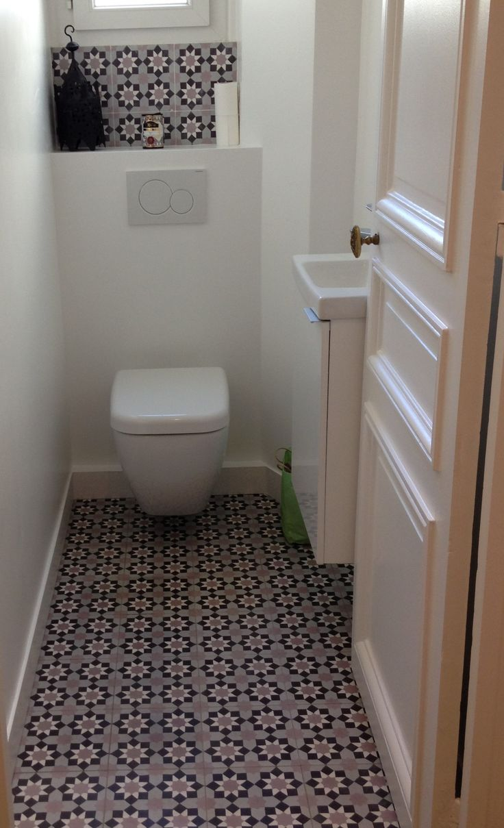 Deco wc carreaux de ciment - Idee carrelage wc ...