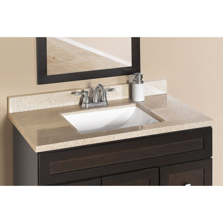 ESTATE by RSI Square Bowl Dune Cultured Marble Vanity Top | Lowe's Canada