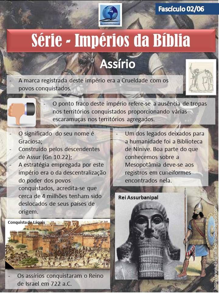 História e Geografia Bíblica: Impérios da Bíblia - Colecionador - Assírio