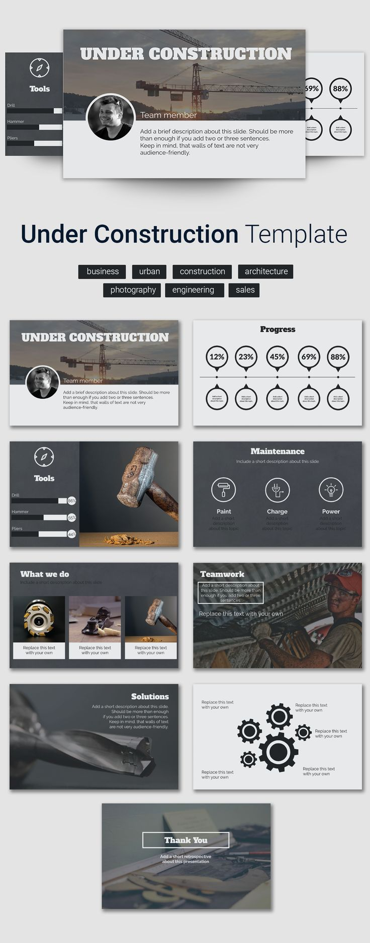 Online business template - PowerPoint presentation templates