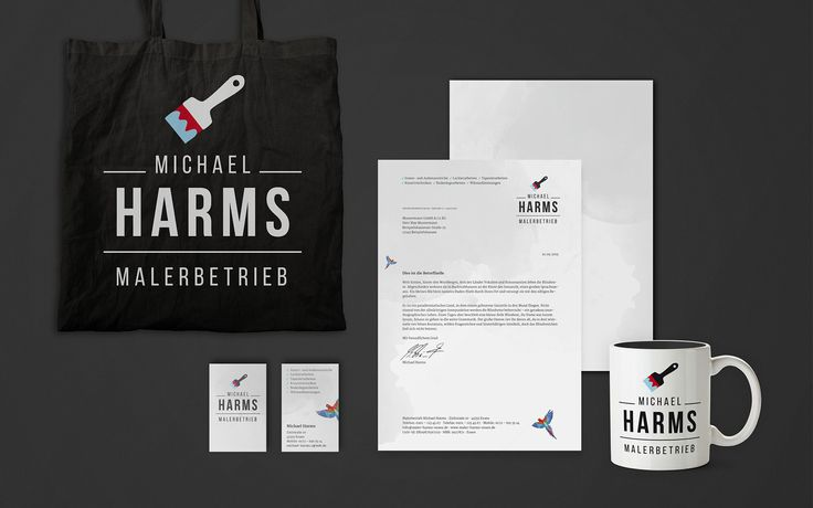 Michael Harms Malerbetrieb Corporate Design on Behance