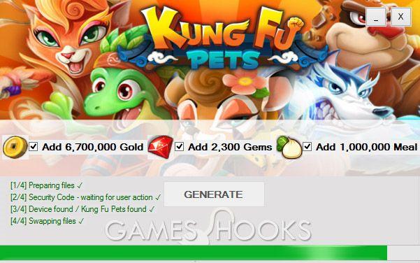 Kung Fu Pets Hack   Games Hooks