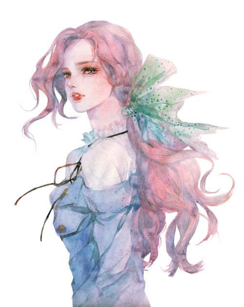 Canvas 2 Anime Characters : Enofno canvas anime pinterest watercolor and