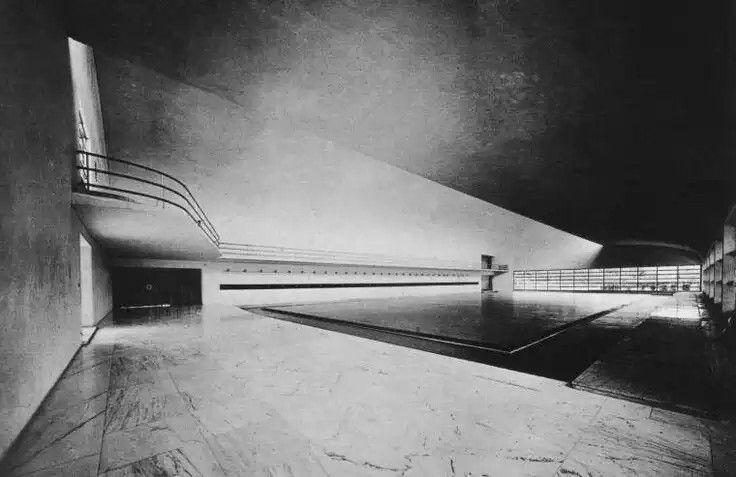 Accademia di scherma al Foro mussolini, Luigi Moretti, 1933-1936