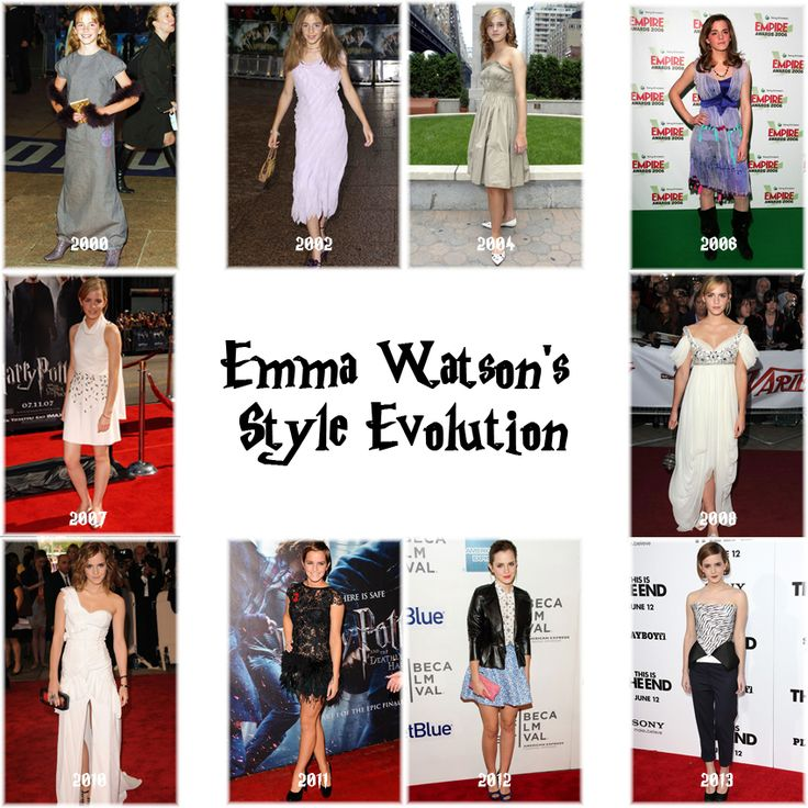 Emma Waston's Style Evolution since her first appearance.