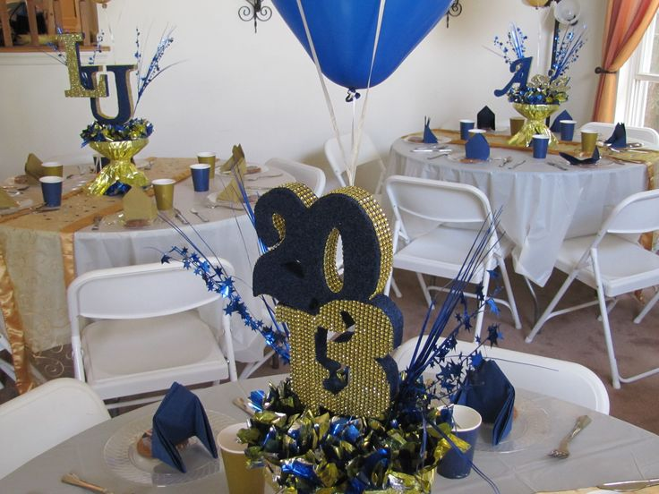 LaSalle University graduation party (gold, blue and cream ...