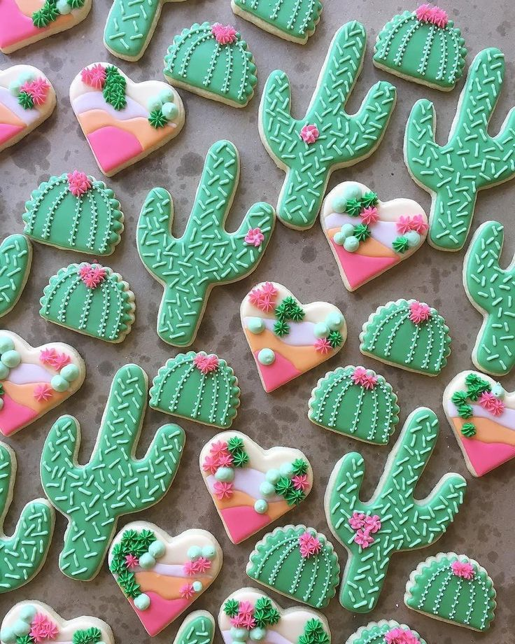 """3,730 Likes, 24 Comments - Wilton Cake Decorating (@wiltoncakes) on Instagram: """"Loving these fun cacti cookies from @sweeterwynsbakedgoods! Can you share one with us, please?…"""""""