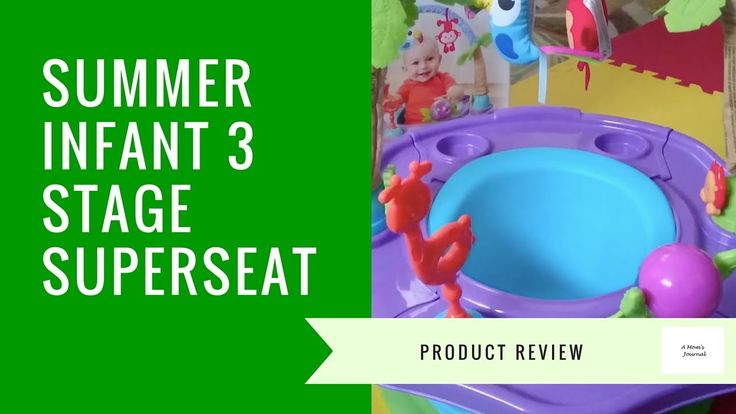 Summer Infant Island Giggles 3 Stage Super Seat Review