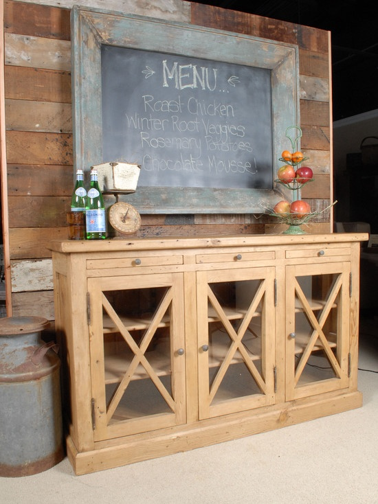 Chalkboard Menu And Buffet