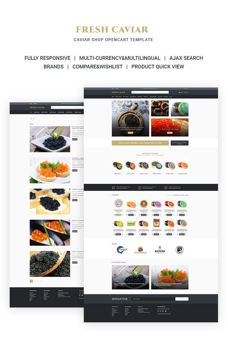 Caviar Shop OpenCart Template