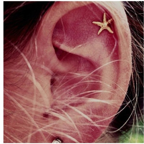 What I pictured when I pierced my cartilage @Kaitlyn Hamilton + Ryan Cannell we need to get matching ones in the summer!