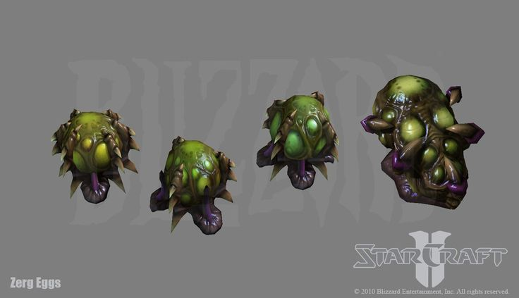 Starcraft 2: Zerg Egg s by PhillGonzo on DeviantArt