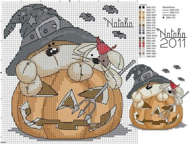 Free Halloween Cross Stitch Pattern