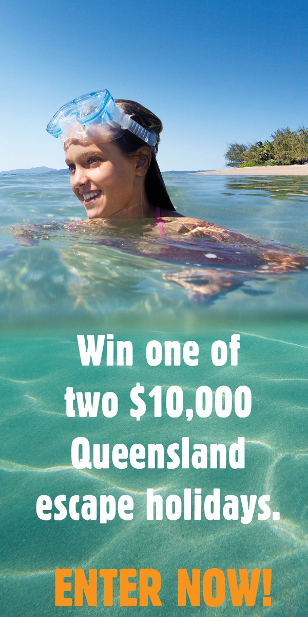 WIN! Click on the image and enter to win one of two $10,000 Queensland holidays! Open to Australian residents only. #qldcomps #competition #holiday