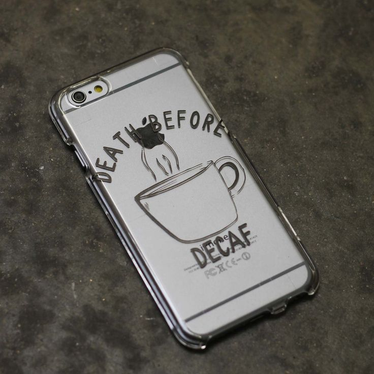 Death Before Decaf Coffee Caffeine Design Case iPhone 6, 6 Plus, 6S, 5, 5C, 5S, Galaxy S5, S6, Note 4 by ClashCases on Etsy https://www.etsy.com/listing/224229899/death-before-decaf-coffee-caffeine