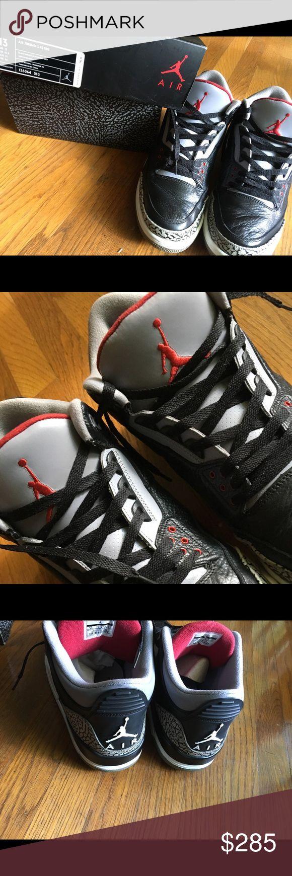Retro Jordan 3 Black cement Black cement retro Jordan 3 release 2011 Jordan Shoes Sneakers