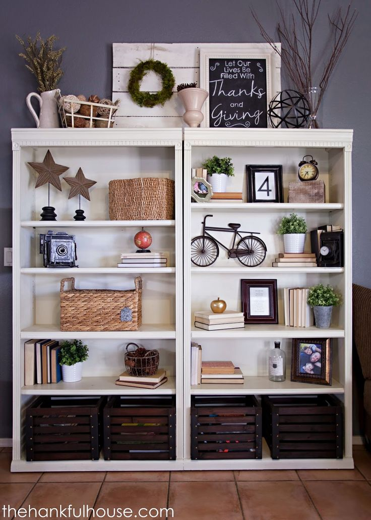 The Hankful House Bookshelf Makeover Furniture