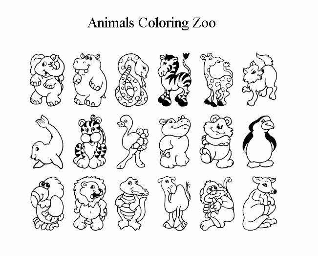 Coloring Book For Kids Animals Unique Free Animals Coloring Pages Zoo To  Kids In 2021 Zoo Animal Coloring Pages, Baby Zoo Animals, Zoo Animals