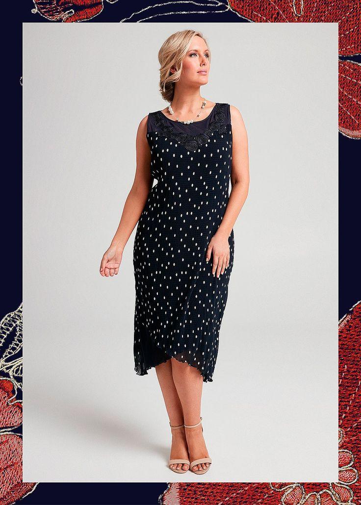 Sophia Spot Dress #takingshape #plussize #curvy #eventwear #event #specialevent