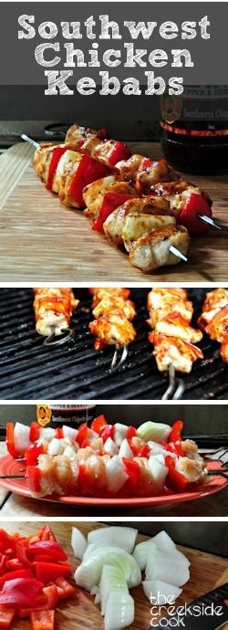 An easy and awesome recipe for Southwest Chicken Kebabs |The Creekside Cook |#kebabs #chicken #bbq