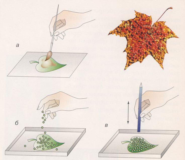 ИгроДром - Мастер-класс - Летние поделки - Коллаж из осенних листьев и бисера.