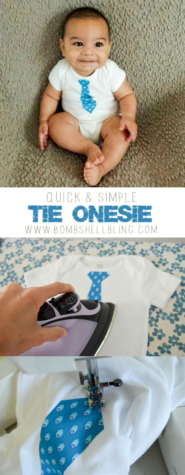 Make a tie onesie! EASY and a GREAT gift idea!!