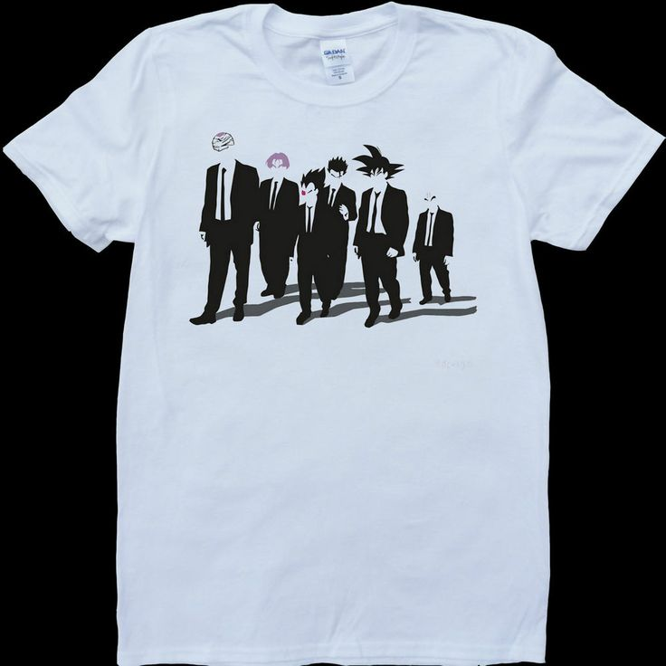 tribute to reservoir dogs dbz dragon ball z tarantino white mens t shirt tshirt dbz. Black Bedroom Furniture Sets. Home Design Ideas