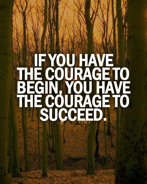 The beginning is always the hardest.