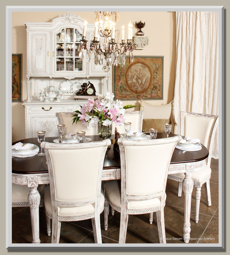 Antique White Dining Room Picture 2018