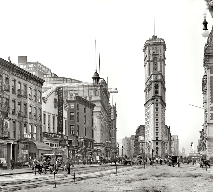 Longacre Square before It was renamed Times Square in 1904, after completion of the New York Times building.