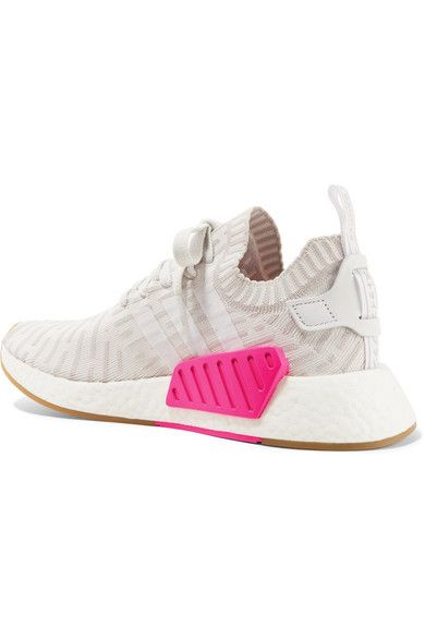 e72f0dd52 adidas Originals - Nmd r2 Leather-trimmed Primeknit Sneakers - White ...