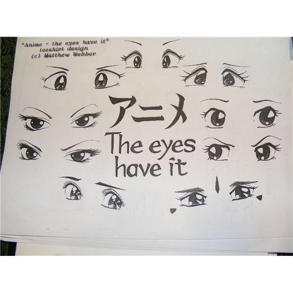 Anime Eyes Handout Anime Drawings Drawings Art