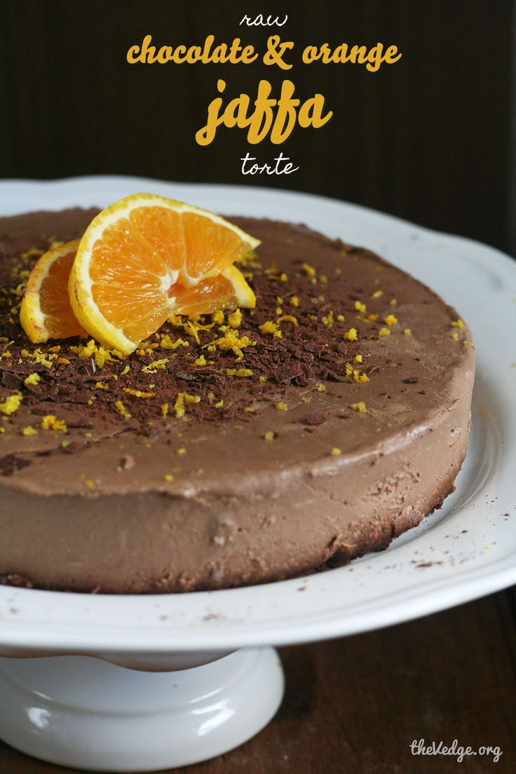 Raw Chocolate & Orange Jaffa Torte