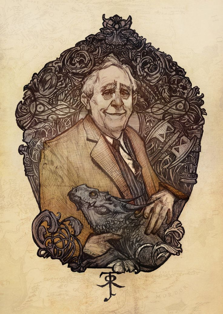 JRR Tolkien by LunaLouise.deviantart.com
