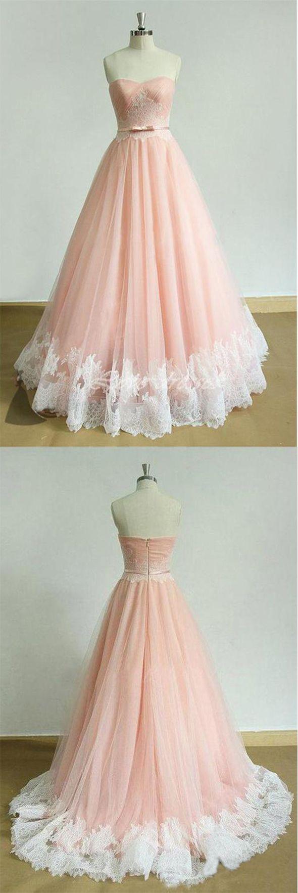 elegant prom dresses,long prom dress,sweetheart prom dresses,applique prom gown,a-line prom dresses,pink evening dress #pink #sweetheart #aline #long #prom #elegant #okdresses