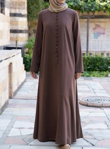 Istanbul Abaya from www.shukrclothing.com #shukr #abaya #Islam If the buttons unbuttoned far enough for nursing I would buy one ASAP!